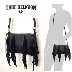 649e54354b True Religion Bags - True Religion Sasha Black Fringe Small Crossbody